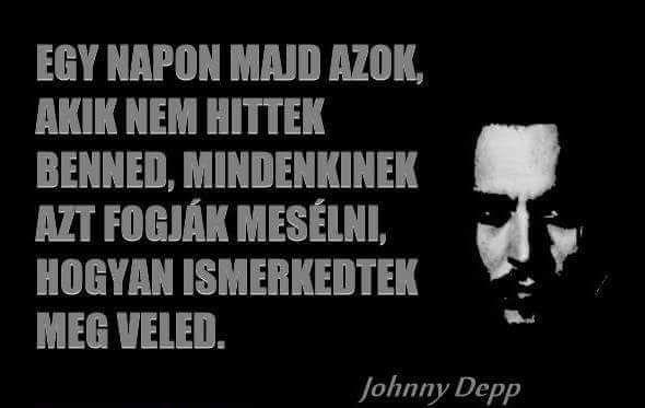 Johnny Depp idézete a népszerűségről. A kép forrása: Schmidt Solymár Hasszó Roland