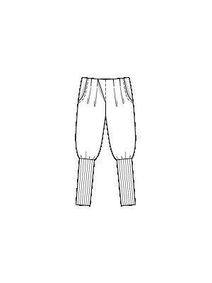 Spodnie wykrój