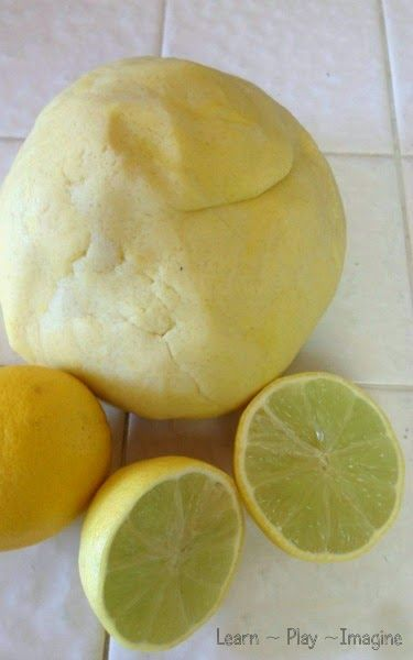Super soft lemon playdough recipe that lasts for many months