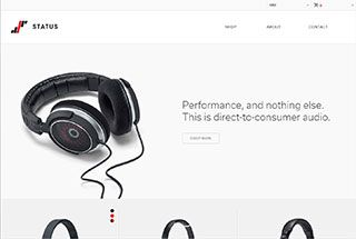 Really simple and straight forward with products taking center stage with no fluff. Nice detailed images of the products with clean backgrounds and simple tag lines.