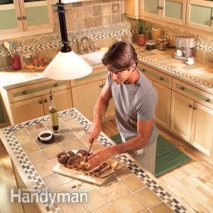 Installing Tile Countertops  http://www.familyhandyman.com/kitchen/countertops/installing-tile-countertops/view-all
