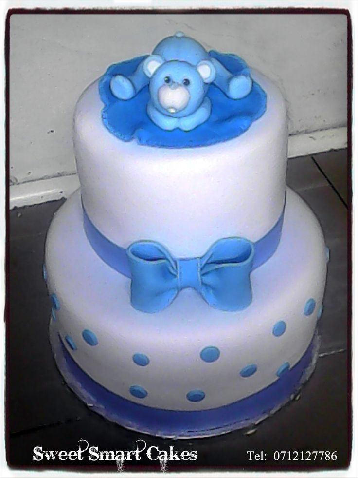 Teddy Baby shower cake For more info & orders, email SweetArtBfn@gmail.com or call/whatsapp 0712127786 (CAKE DECORATING CLASSES AVAILABLE)