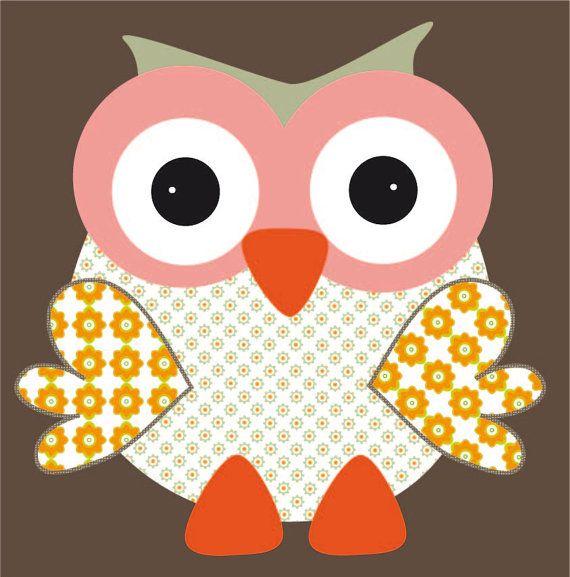 owl art, uiltje schilderij, art for kids room, kinder kamer kunst, ZotteZOO, retro, vintage