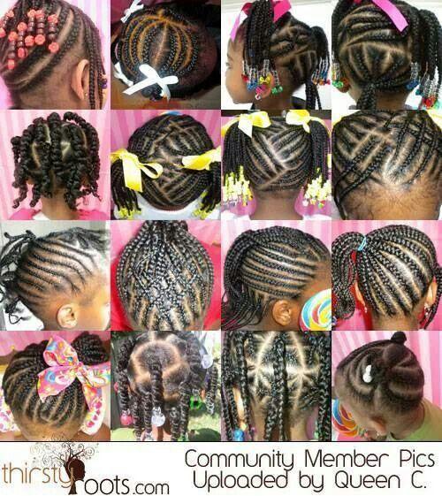 Children braid styles