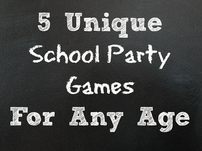 5 Unique School Party Games For Kids of Any Age  |   Premeditated Leftovers