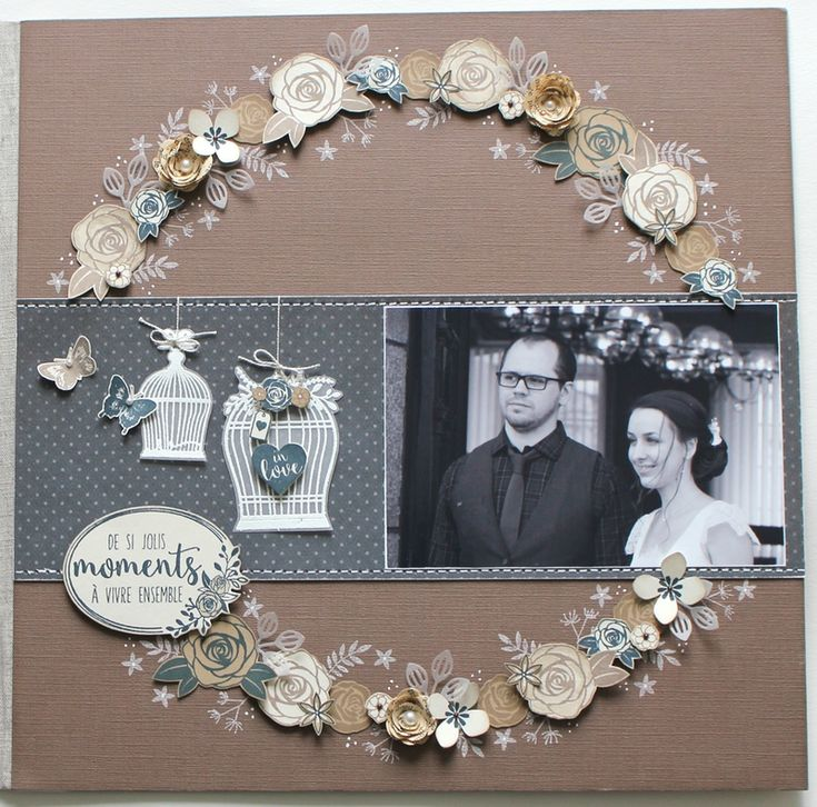 Les 25 meilleures id es de la cat gorie scrapbooking - Idee scrapbooking album photo ...