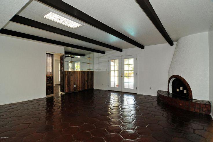 Love The Hexagon Saltillo Tiles And Kiva Fireplace Dark