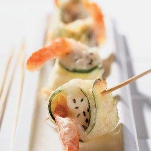 Appetizer for game day: Crispy Shrimp Rolls
