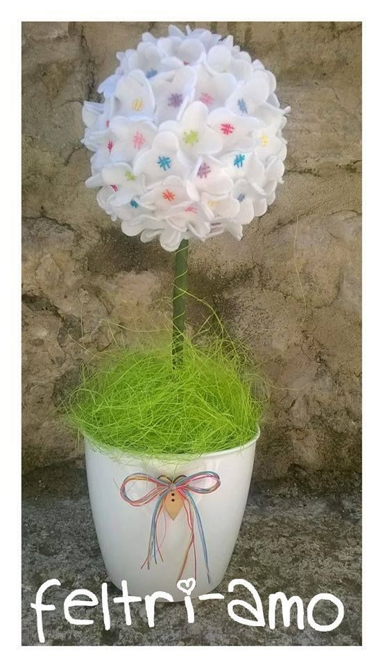 ****** Le Maddine & Maddy ****** ***** https://www.facebook.com/groups/531953423561246/ ***** #madeinfacebook #lemaddine #handmade #handcrafted #instagram #instapic #instagood #picoftheday #instacool #handmade #cool #cute #spring #decor #homedecor #flowers #pot #white #green #sewing #embroidery #felt #pannolenci #feltriamo @feltriamo