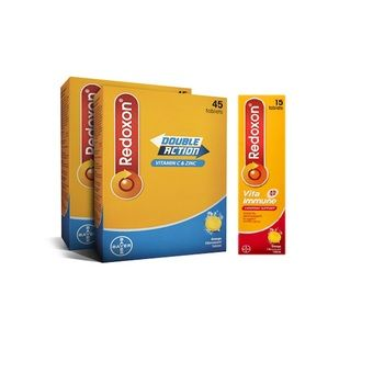Buy Redoxon Double Action Effervescent 2x45s + Vita Immune 15s online at Lazada. Discount prices and promotional sale on all. Free Shipping.