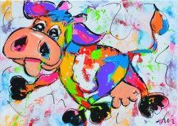 Schilderijen veiling - Liz - Cow dancing