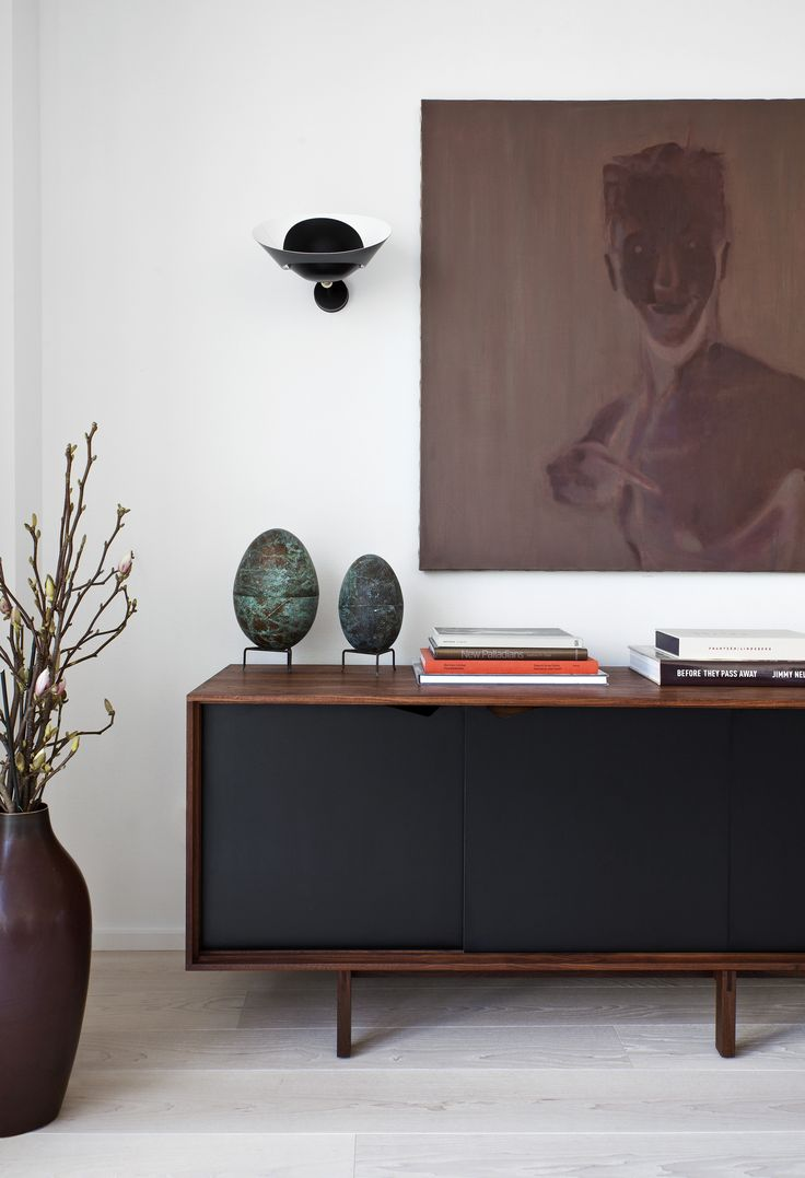 Oscar Properties: Chokladfabriken  #oscarproperties living room, decoration, art, sideboard, plants