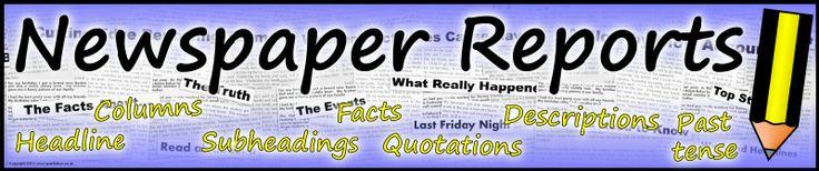 Newspaper Reports display banners (SB10502) - SparkleBox
