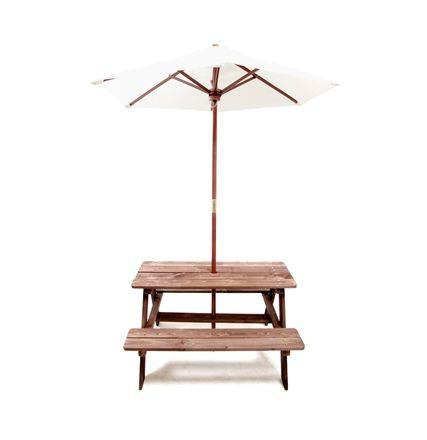Woodlii Picknickbord med Parasoll
