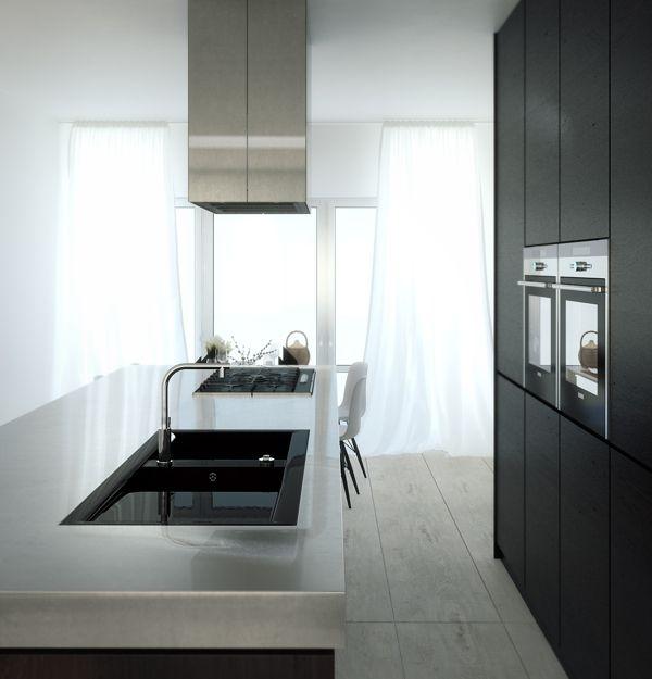Chrome Kitchen by Juraj Talcik, via Behance