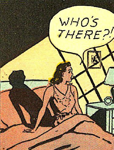 superdames:  knock knock —Flash Comics #35 (1942) by John Wentworth & Homer Fleming