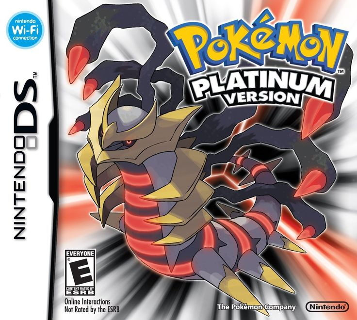 Pokemon Platinum Version.