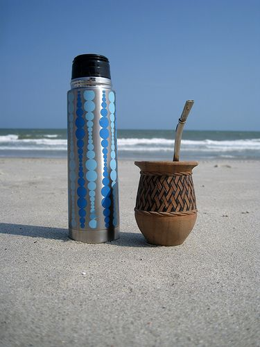 Yerba Mate On The Beach