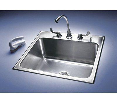 Just Manufacturing 25 L X 22 W Drop In Kitchen Sink Drop In