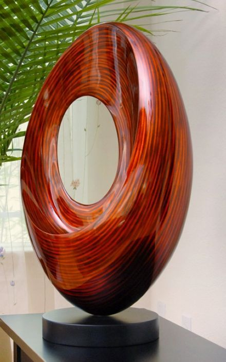 """Ellipse""-Free Form Contemporary Wood Sculpture, Stohans Showcase"