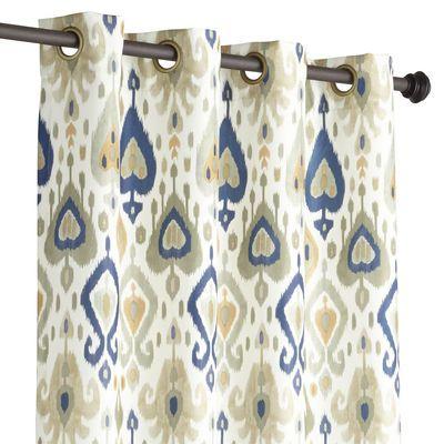 ikat curtain gray