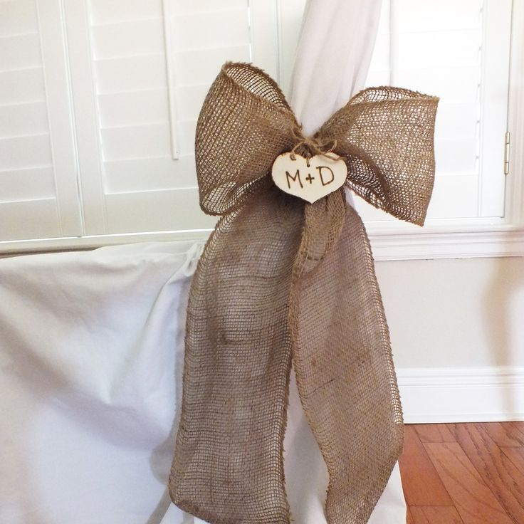 Burlap Bows Or Burlap Pew Bows Rustic Wedding by ButterBeanVintage, $110.00