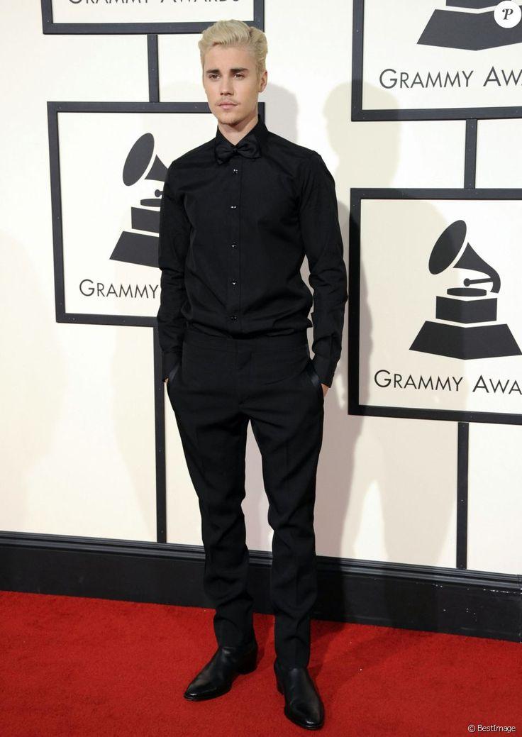 Justin Bieber à La 58ème soirée annuelle des Grammy Awards au Staples Center à Los Angeles, le 15 février 2016.