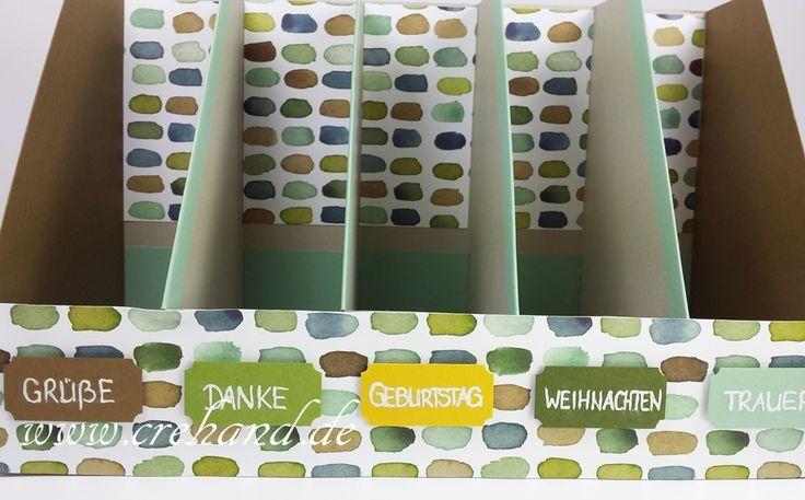 crehand Aufbewahrung Grußkarten Stehsammler Farbkarton Stampin Up 2016-01-12 20.19.33