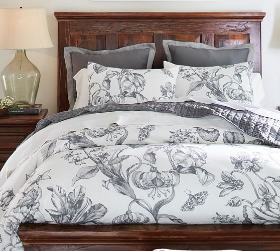 my next bedding pippa floral print organic duvet cover. Black Bedroom Furniture Sets. Home Design Ideas