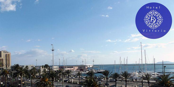 Una bella panoramica dall'Hotel - http://www.hotelbjvittoria.it   #panorama #hotel #Cagliari #Sardegna