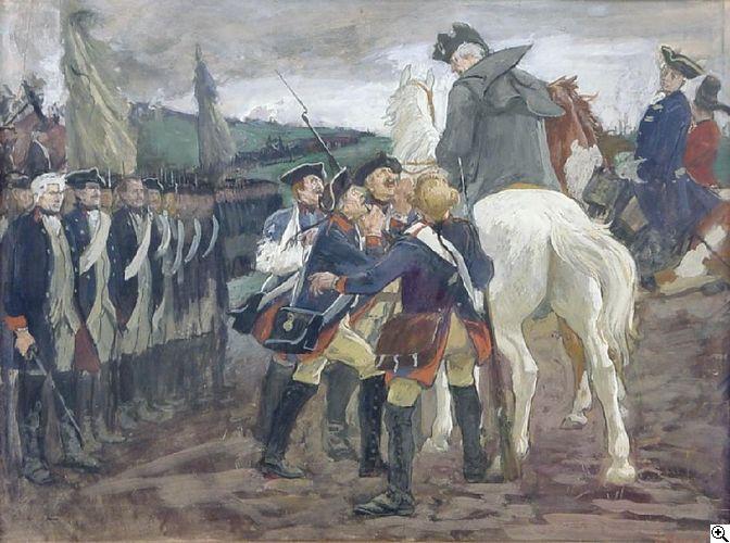 Arthur Kampf: Der Alte Fritz nach der Schlacht bei Kunersdorf aus unserer Rubrik: Gemälde des 19. Jahrhunderts
