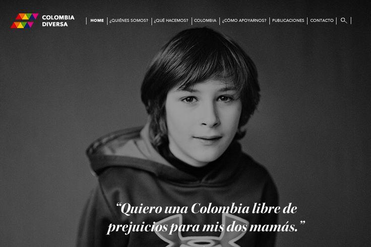 Web Concept para la organización Colombia Diversa.