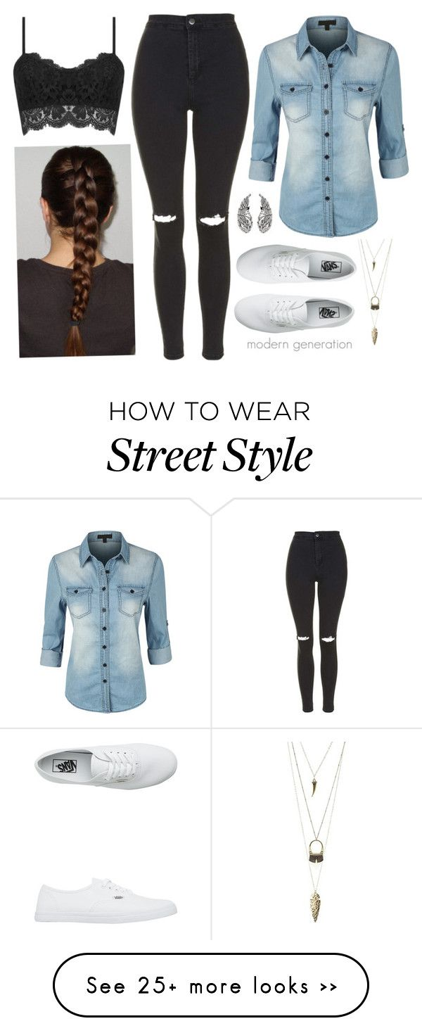 """""""sch 5"""" by modern-generation on Polyvore featuring LE3NO, Topshop, Vans and Charlotte Russe"""
