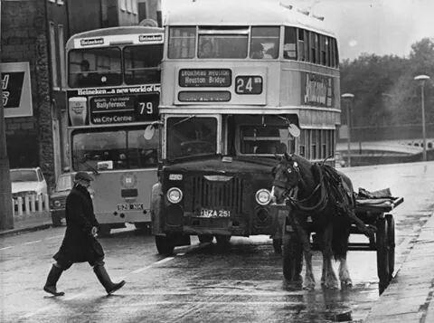 Dublin. No. 24 Bus to Hueston Bridge.