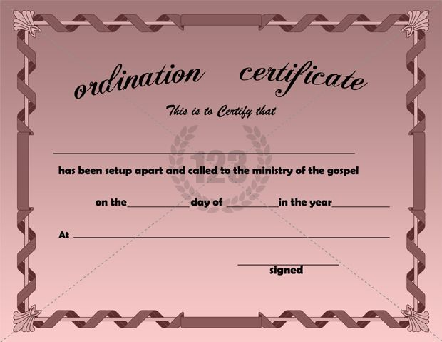 best ordination certificate templates free download