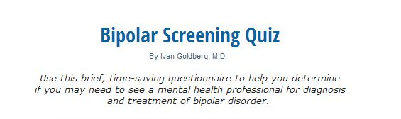Bipolar Screening Quiz