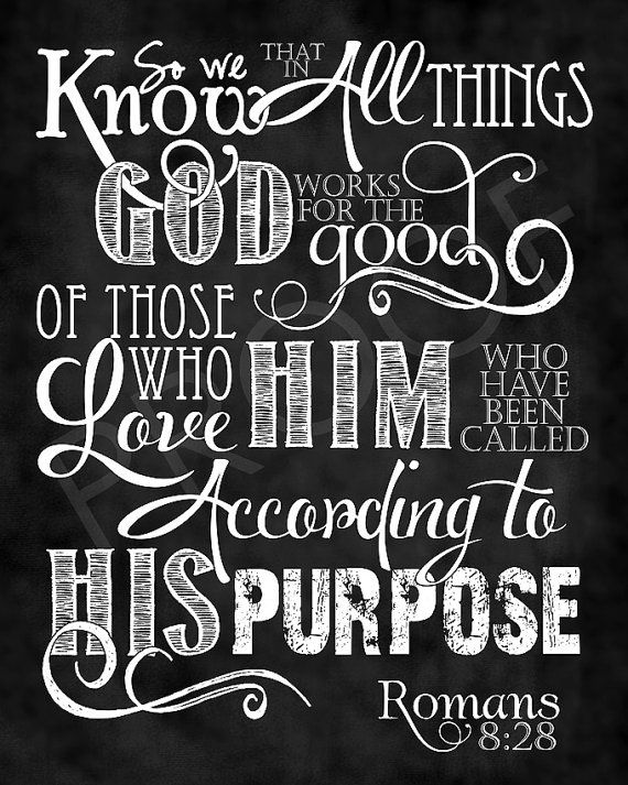 Scripture Art  Romans 828 Chalkboard Style by ToSuchAsTheseDesigns, $15.00