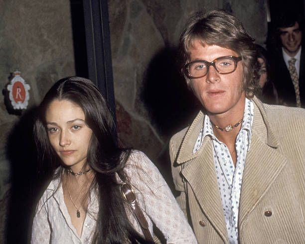 Actors Olivia Hussey and Dean Paul Martin on April 16 1971 arrive in Las Vegas for their Wedding Ceremony