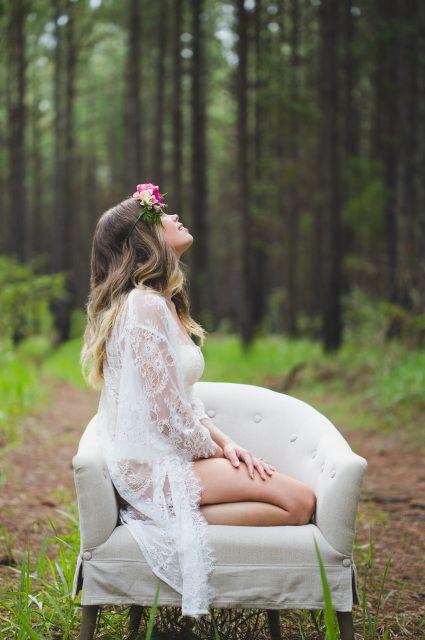 Ivy & Matilda Penelope Lace Bridal Robe   $169 aud