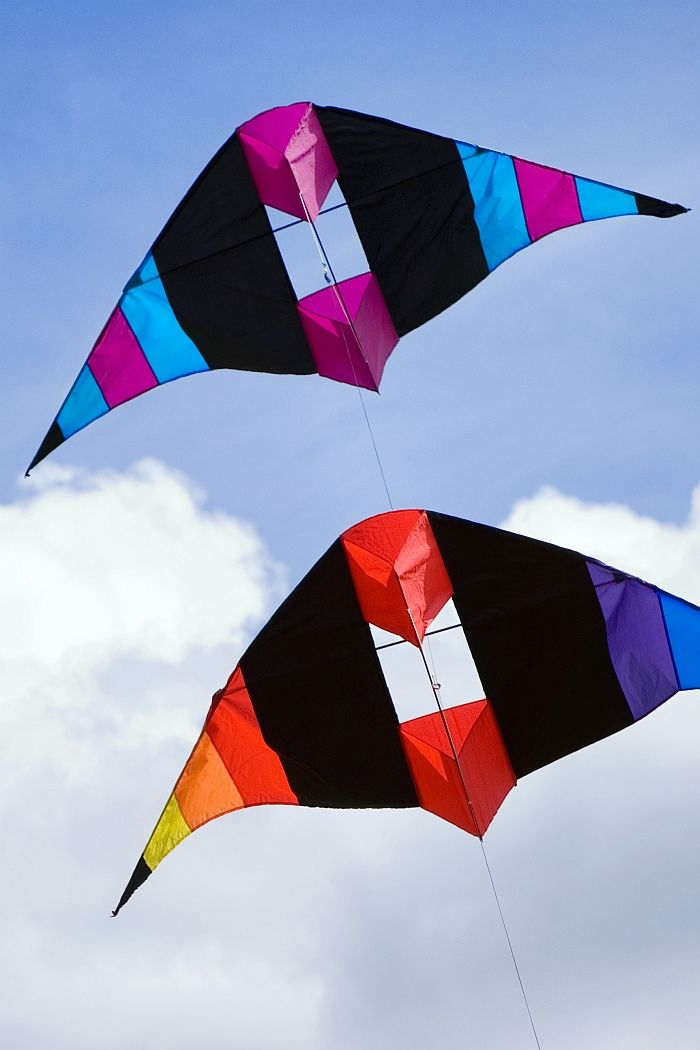 how to fly two line delta kites