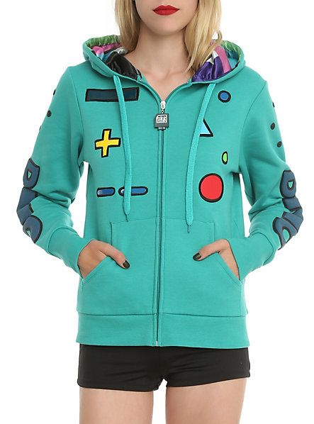 Adventure Time BMO Standby Girls Zip Hoodie | Hot Topic i need this