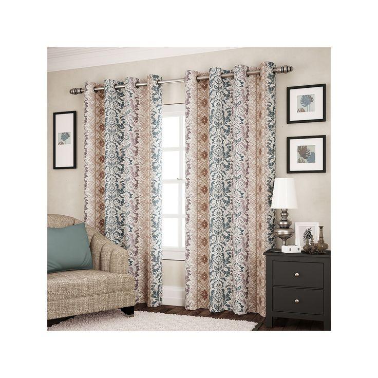 eclipse Shayla Thermaweave Room Darkening Curtain, Light Blue