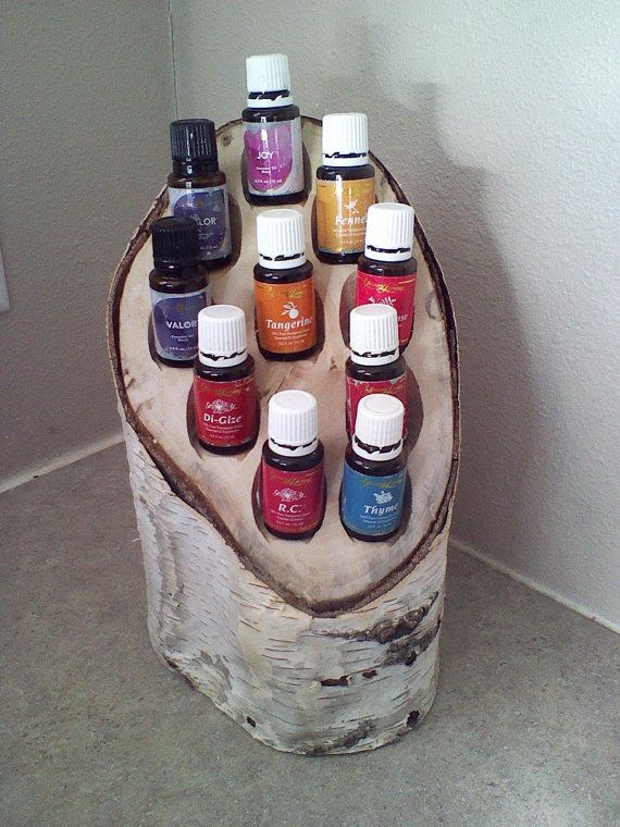 BIRCH WOOD ESSENTIAL OiLS Holder / Caddy  by TraditionsinThyme, $44.95