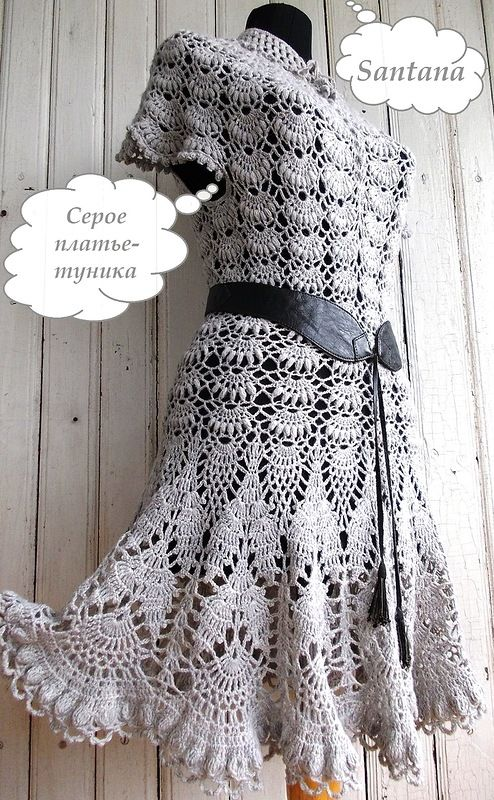 Платье-туника серого цвета. Фото 1