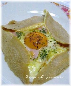 とろ~りチーズと卵のガレット by はなまる子♪|簡単作り方/料理検索の楽天レシピ