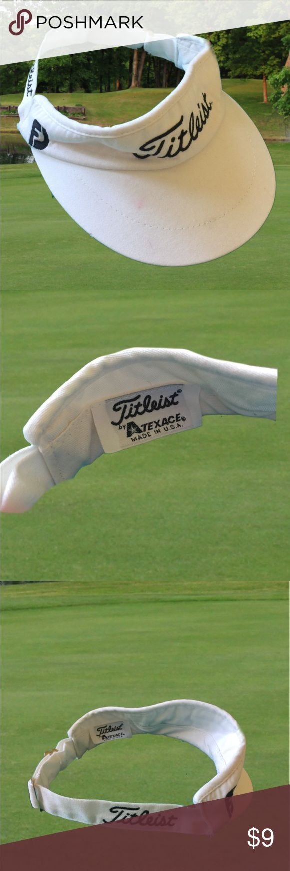 Titleist golf  Women's visor white embroidered Titleist golf  Women's visor white embroidered titleist Accessories Hats