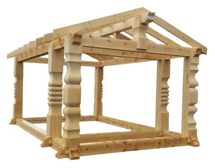 Komplett byggesett i stavlaft! Komplett stavlaftramme med ferdig tilpassete sperrer. Velegnet for selvbyggeren!