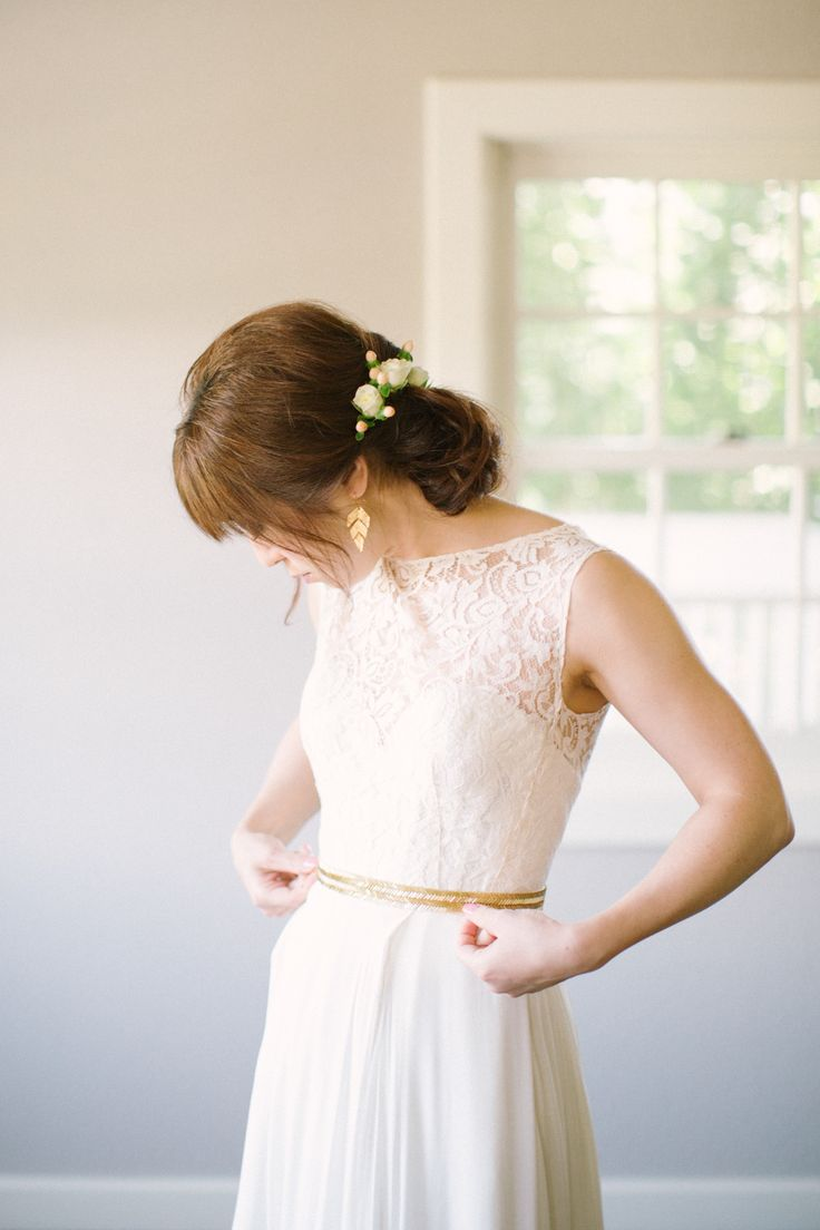 Wedding Dress by @Sarah Chintomby Chintomby Chintomby Seven | Summer Harvest Wedding from Emily Scannell Photography |  Read more - http://www.stylemepretty.com/2013/11/25/summer-harvest-wedding-from-emily-scannell/