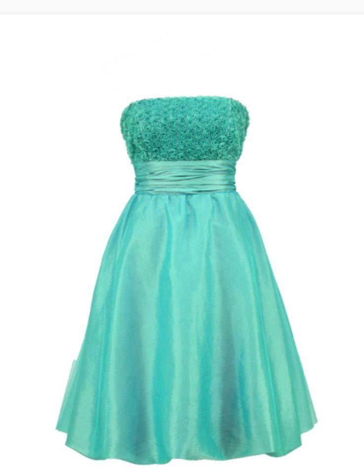 Ocean bridesmaid prom dress