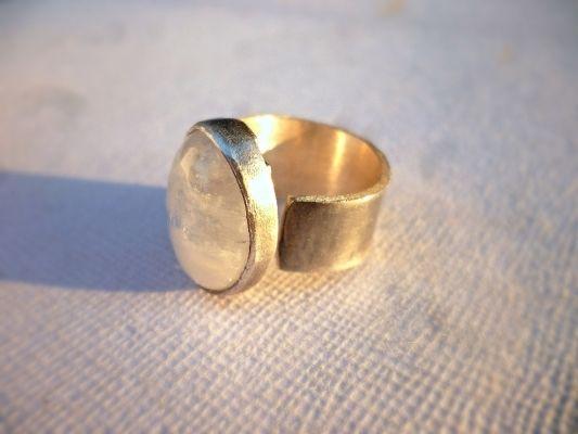 moon stone   myartshop Ασημένιο δαχτυλίδι με φεγγαρόπετρα